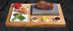 Lavarock tallerken LR01, Flot tallerken med lavasten, Steg bøffer eller hold maden kold