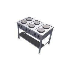 Leje af Elektrisk kogebord m/ 6 blus