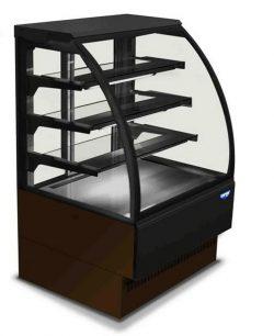 Leje af Kølemontre med buet frontglas der giver et flot display.