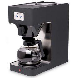 Leje af Kaffemaskine med 2 kolber og varmeplade på toppen.