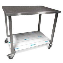 Leje af Rullebord på 1200 mm med vulstkant