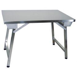 Leje af Stålbord på 180 cm, bordet er fodbart