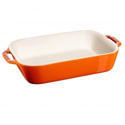 Staub Gratin Fad, Orange - keramik - Flere størrelser