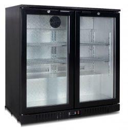 Leje af Backbar / flaskekøleskab m/ 2 låger: