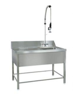 Leje af Forskyllebord (stålbord m/ vask) & Spulearmarmatur